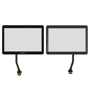 Touchscreen for Samsung N8000 Galaxy Note, N8010 Galaxy Note, P5100 Galaxy Tab2 , P5110 Galaxy Tab2  Tablets, (black, (244*171 mm))