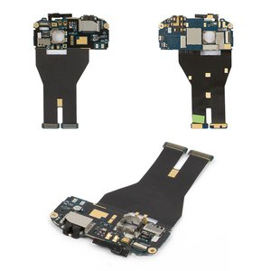 Flat Cable for HTC G14, G18, Z710e Sensation, Z715e Sensation XE Cell Phones, (start button, speaker, headphone connector, camera, with components)