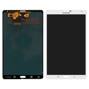 LCD for Samsung T705 Galaxy Tab S 8.4 LTE Tablet, (version 3G , white, with touchscreen)