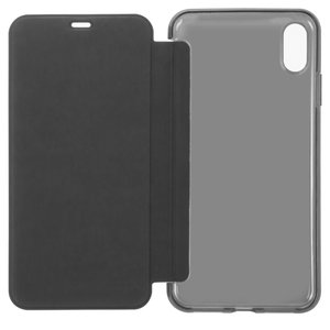 Case Baseus compatible with iPhone XS Max, (black, matt, flip, silicone, plastic) #WIAPIPH65-TS01