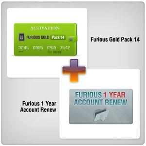 Renovación de acceso al servidor Furious por 1 año  + Furious Gold Pack 14