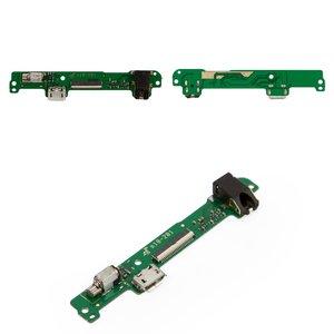 Cable flex para tablet PC Huawei MediaPad 10 Link 3G (S10-201u),  del conector de carga, con componentes, verde
