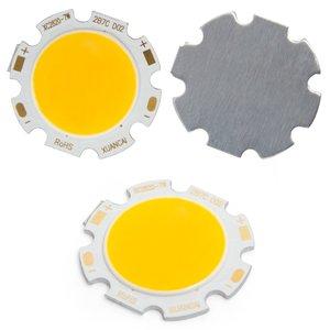 COB LED модуль 7 Вт (теплый белый, 650 лм, 28 мм, 300 мА, 21-23 В)