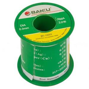 Припій BAKU BK-10003, sn 97%, ag 0,3%, 100 г, 0,3 мм, флюс 2%, cu 0,7%
