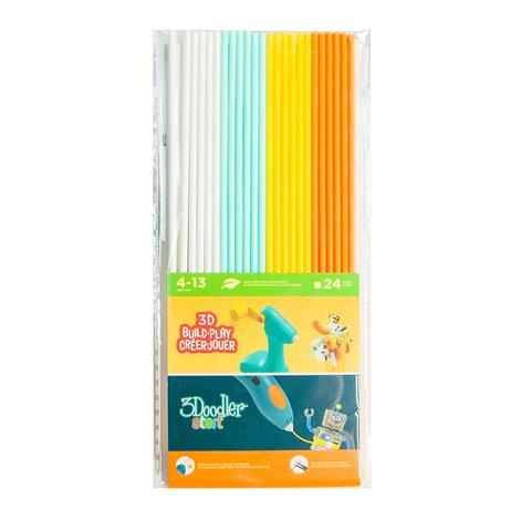 Набор стержней для 3D-Ручки3Doodler Start(24 шт: белый, мятный, желтый и оранжевый)