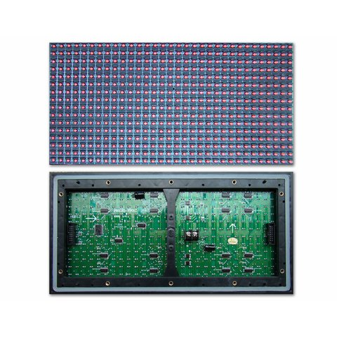 Outdoor LED Module P10 Red 320 × 160 mm, 32 × 16 dots, IP65, 2000 nt