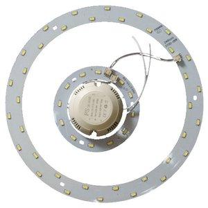 Juego de piezas para armar lámpara LED de 24 W (luz blanca natural, redondo, 4000-4500 K)